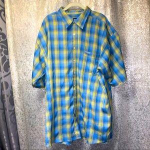 ENYCE button down short sleeve shirt top Mens XXL